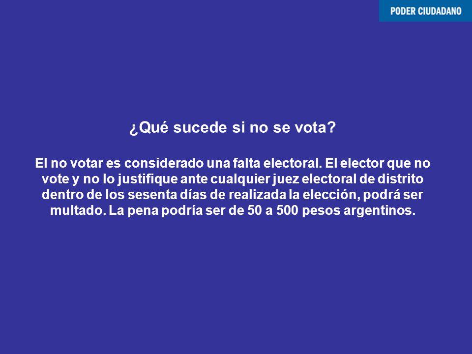 ¿Qué sucede si no se vota? El no votar es considerado una falta electoral. El elector que no vote y no lo justifique ante cualquier juez electoral de