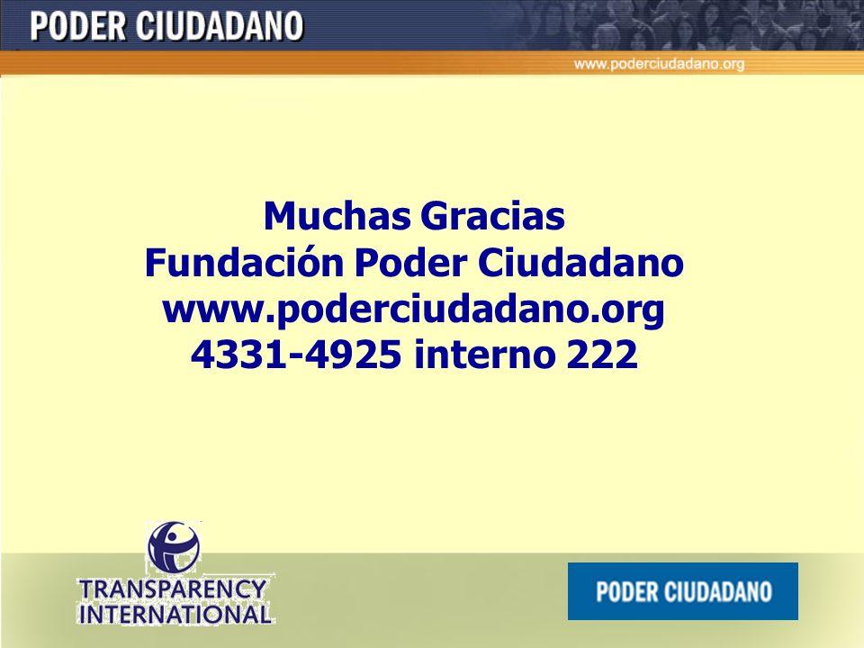 Cumplimiento de deudas pendientes en materia de lucha contra la corrupción ( compromisos internacionales: OEA, ONU, OCDE). Por ejemplo: Creación de la
