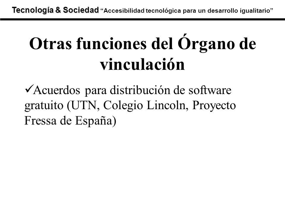 Tecnología & Sociedad Tecnología & SociedadAccesibilidad tecnológica para un desarrollo igualitario Acuerdos para distribución de software gratuito (U