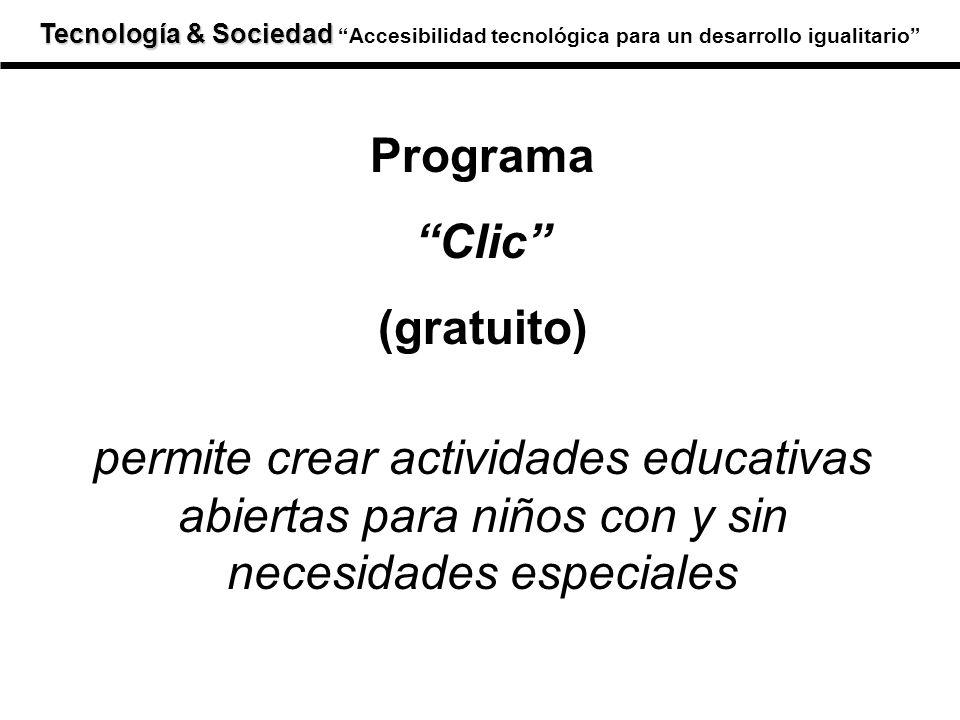 Programa Clic (gratuito) permite crear actividades educativas abiertas para niños con y sin necesidades especiales