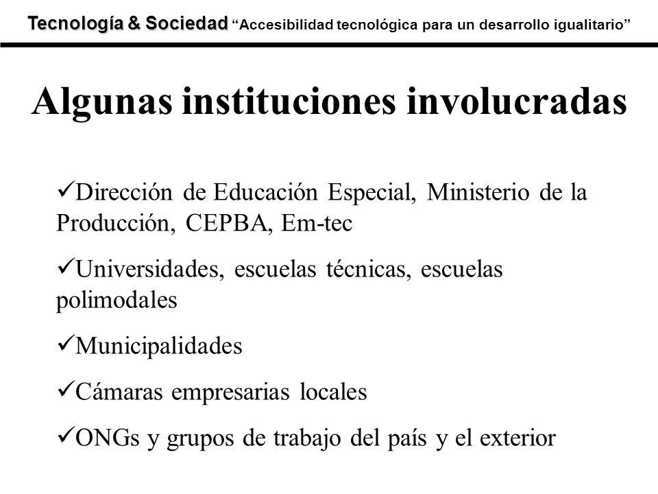 Tecnología & Sociedad Tecnología & SociedadAccesibilidad tecnológica para un desarrollo igualitario Dirección de Educación Especial, Ministerio de la