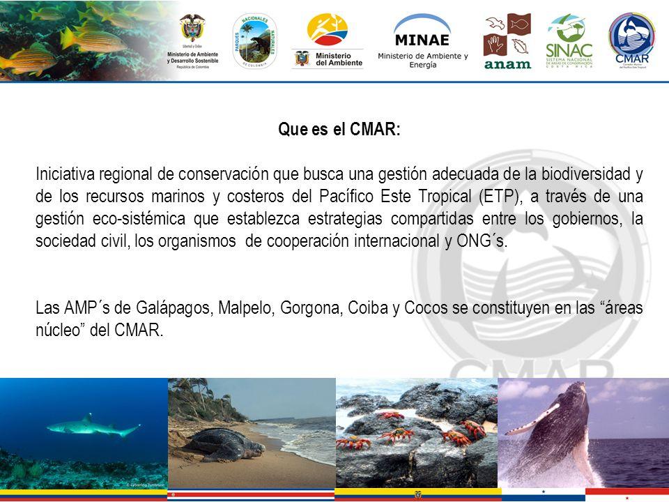 Que es el CMAR: Iniciativa regional de conservación que busca una gestión adecuada de la biodiversidad y de los recursos marinos y costeros del Pacífi