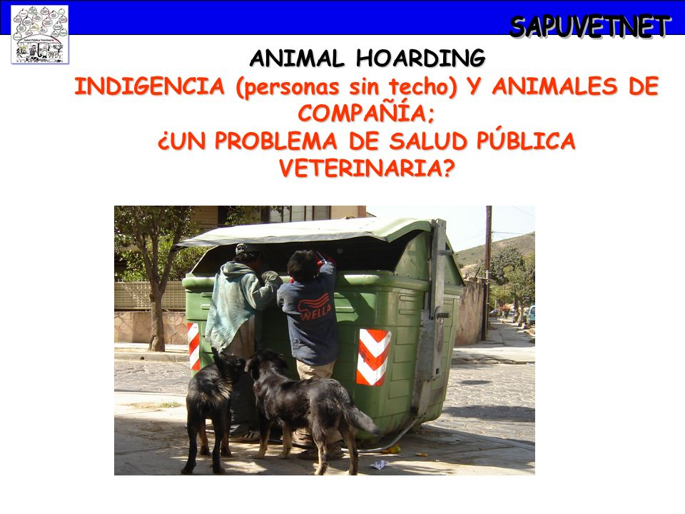 ANIMAL HOARDING INDIGENCIA (personas sin techo) Y ANIMALES DE COMPAÑÍA; ¿UN PROBLEMA DE SALUD PÚBLICA VETERINARIA?