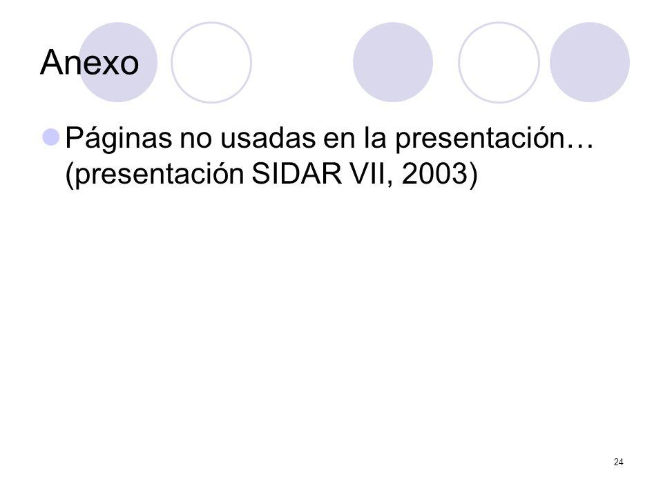 24 Anexo Páginas no usadas en la presentación… (presentación SIDAR VII, 2003)