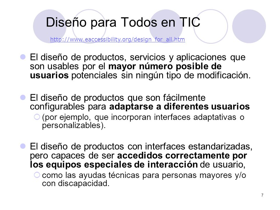 8 TIC y diversidad Include – What is Design for All