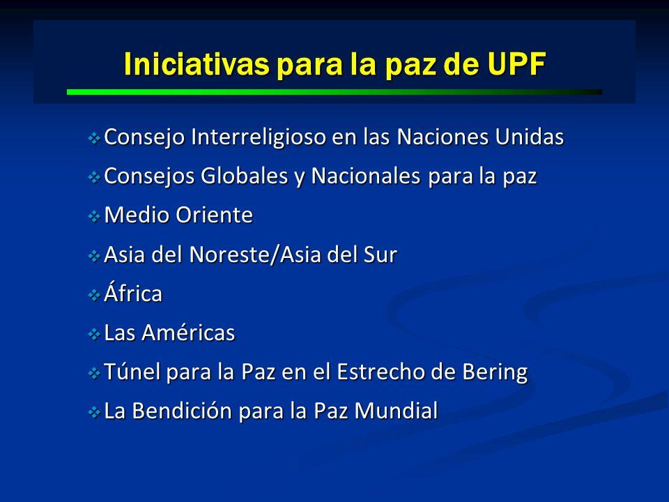 Iniciativas para la paz de UPF Consejo Interreligioso en las Naciones Unidas Consejo Interreligioso en las Naciones Unidas Consejos Globales y Naciona
