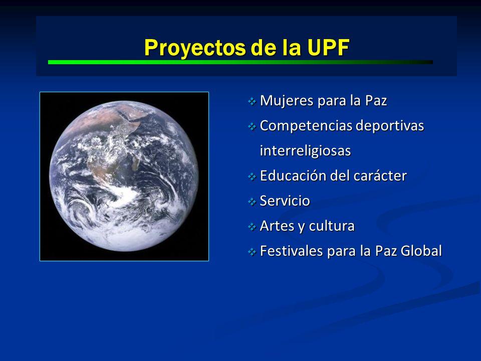 Proyectos de la UPF Mujeres para la Paz Mujeres para la Paz Competencias deportivas interreligiosas Competencias deportivas interreligiosas Educación