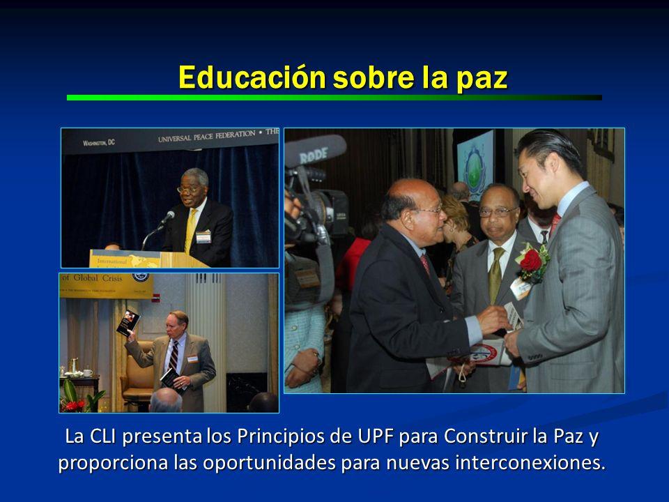 Educación sobre la paz La CLI presenta los Principios de UPF para Construir la Paz y proporciona las oportunidades para nuevas interconexiones.