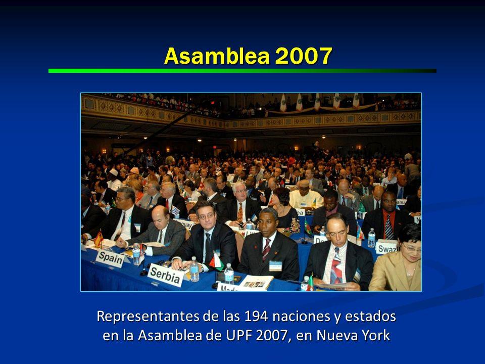 Asamblea 2007 Representantes de las 194 naciones y estados en la Asamblea de UPF 2007, en Nueva York