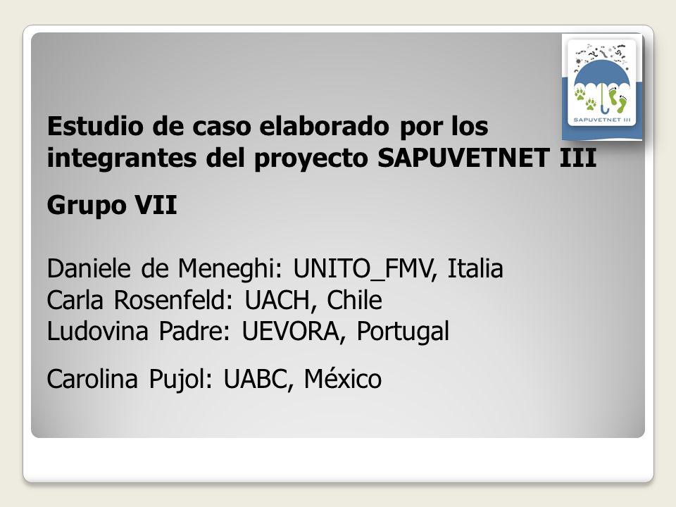 Estudio de caso elaborado por los integrantes del proyecto SAPUVETNET III Grupo VII Daniele de Meneghi: UNITO_FMV, Italia Carla Rosenfeld: UACH, Chile