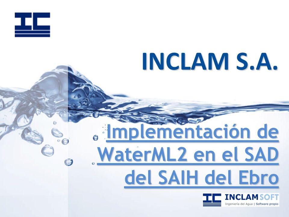 INCLAM S.A. Implementación de WaterML2 en el SAD del SAIH del Ebro