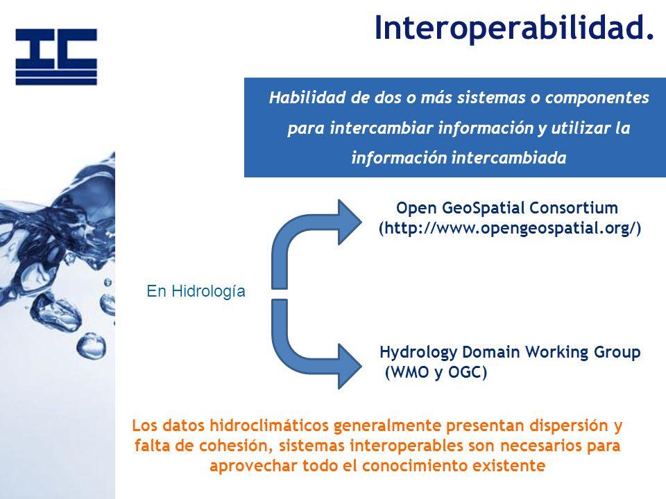 Los datos hidroclimáticos generalmente presentan dispersión y falta de cohesión, sistemas interoperables son necesarios para aprovechar todo el conoci