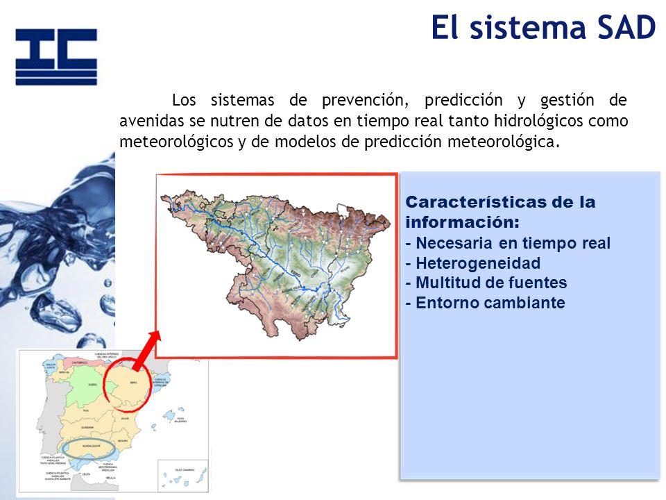 Los sistemas de prevención, predicción y gestión de avenidas se nutren de datos en tiempo real tanto hidrológicos como meteorológicos y de modelos de
