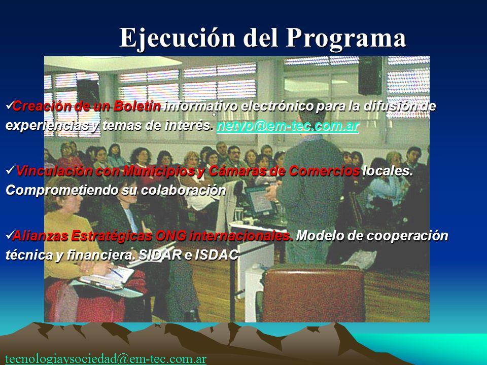 Creación de un Boletín informativo electrónico para la difusión de experiencias y temas de interés. netyp@em-tec.com.ar Creación de un Boletín informa