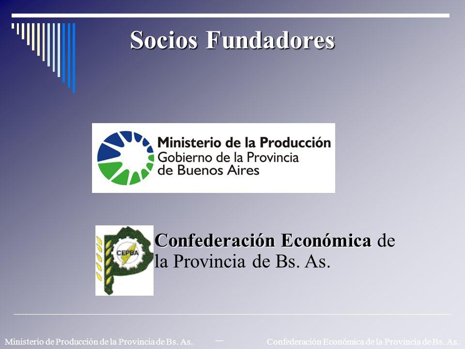Socios Fundadores Confederación Económica Confederación Económica de la Provincia de Bs. As. Ministerio de Producción de la Provincia de Bs. As. – Con