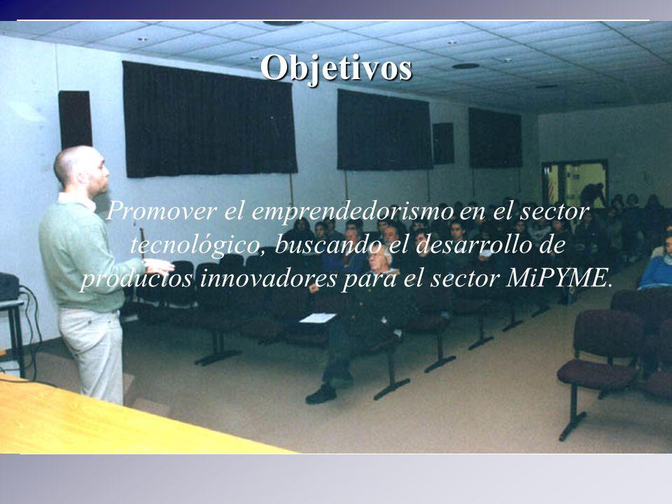 Promover el emprendedorismo en el sector tecnológico, buscando el desarrollo de productos innovadores para el sector MiPYME. Objetivos