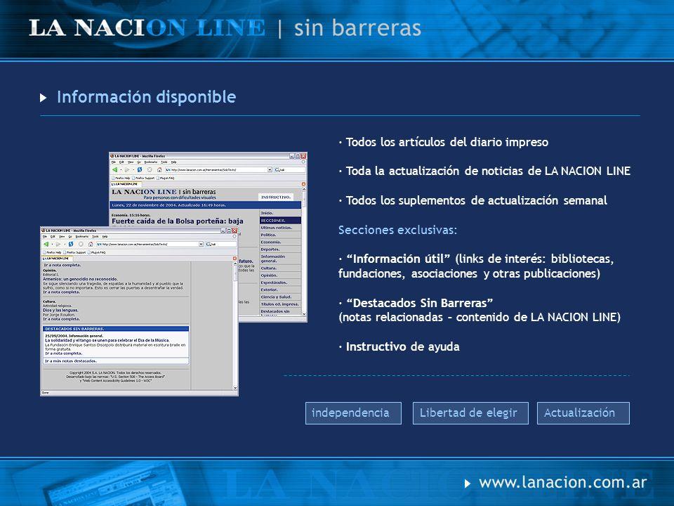 Comunicación La comunicación de este sitio se realizó a través de: · Un comercial de tv · Spot en radio · Banners pautados en LA NACION LINE · Avisos y notas en diario impreso notas banners aviso