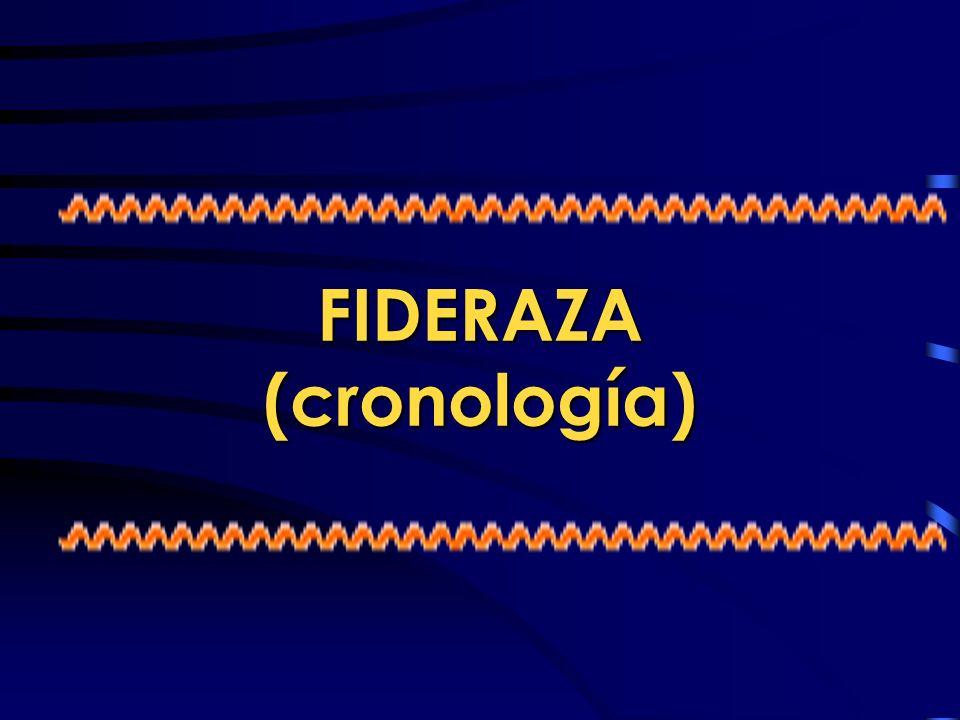 FIDERAZA (cronología)