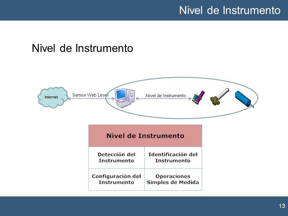 13 Nivel de Instrumento Internet Nivel de Instrumento Sensor Web Level