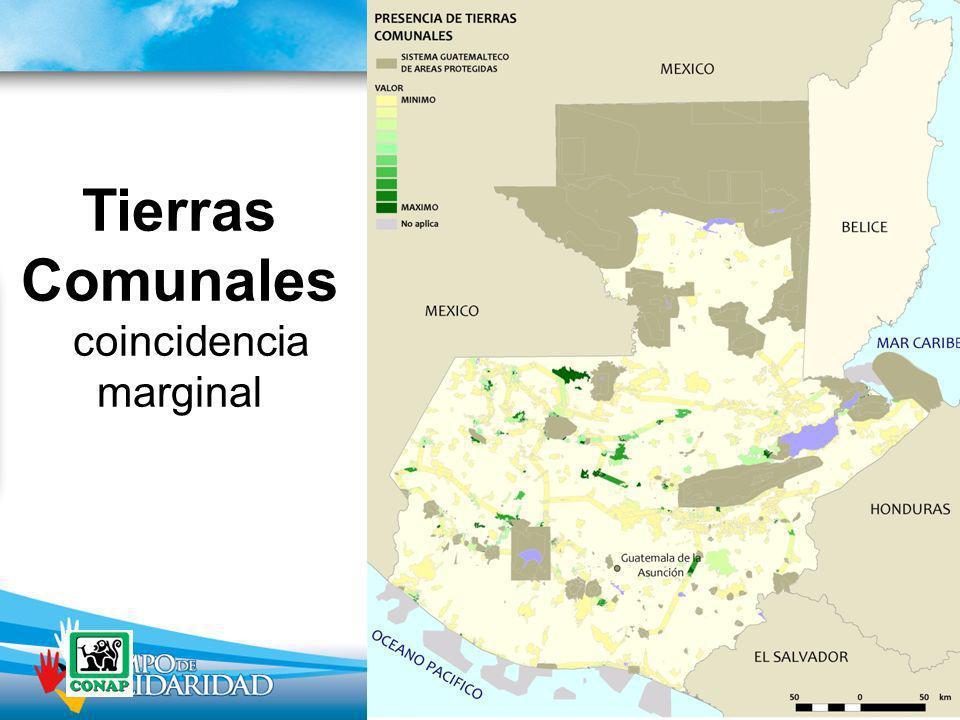 Tierras Comunales coincidencia marginal