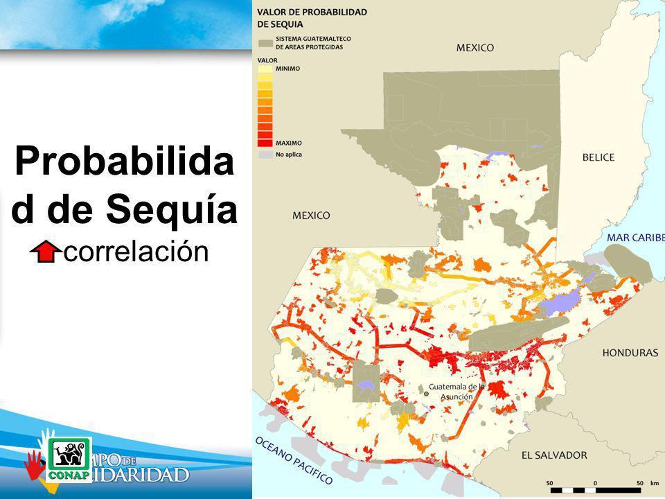 Probabilida d de Sequía correlación
