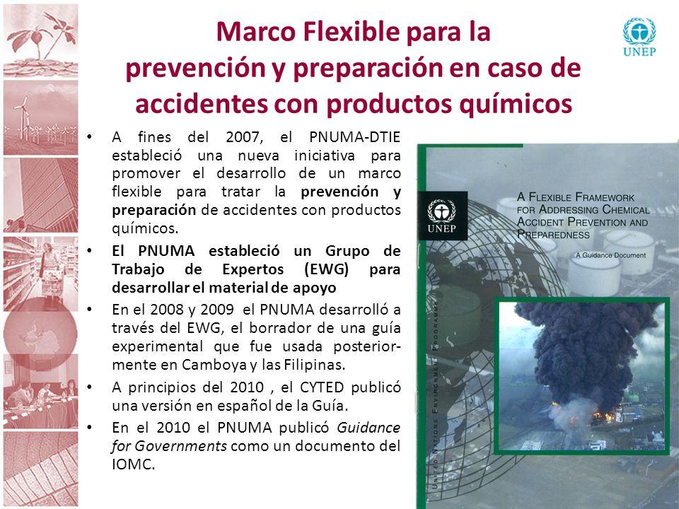 Marco Flexible para la prevención y preparación en caso de accidentes con productos químicos A fines del 2007, el PNUMA-DTIE estableció una nueva inic