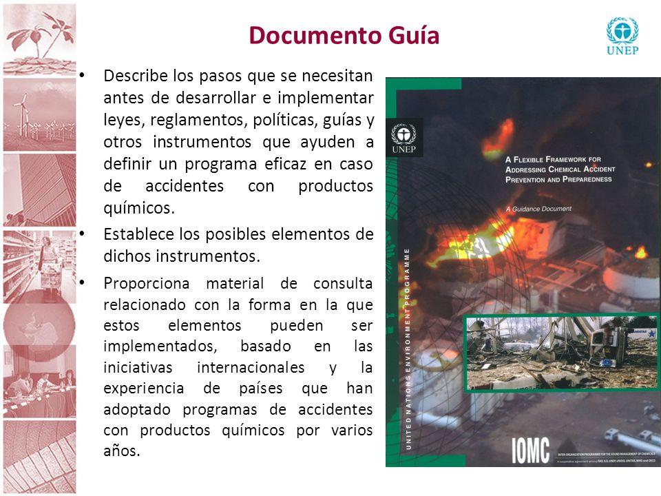 Documento Guía Describe los pasos que se necesitan antes de desarrollar e implementar leyes, reglamentos, políticas, guías y otros instrumentos que ay
