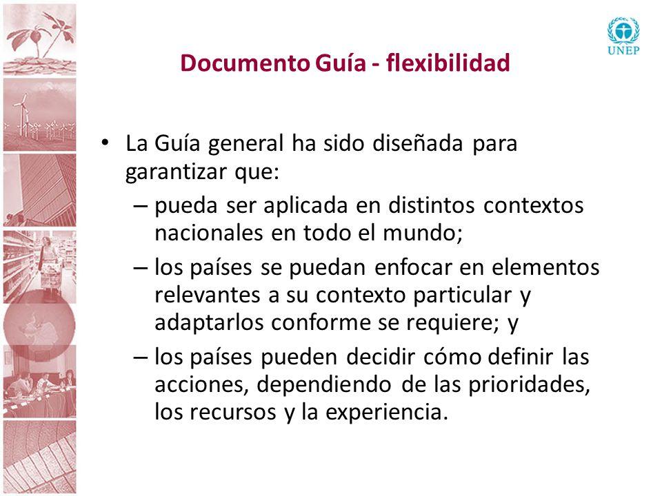 Documento Guía - flexibilidad La Guía general ha sido diseñada para garantizar que: – pueda ser aplicada en distintos contextos nacionales en todo el