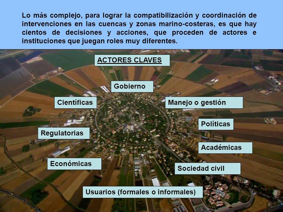 Regiones donde fue aprobado el establecimiento de procesos de Manejo Integrado Costero.