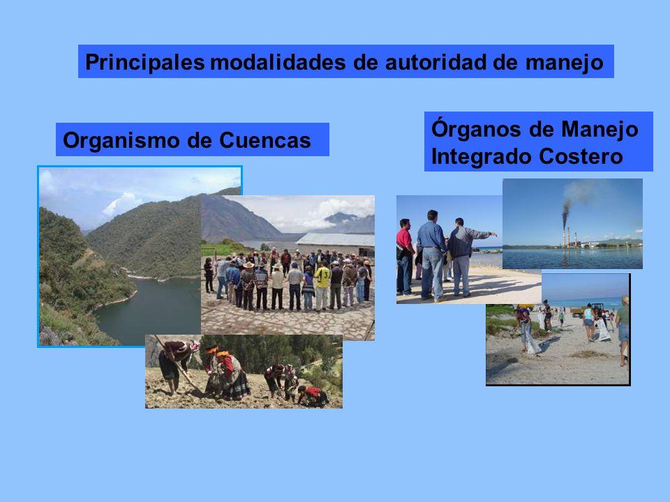 En muchos casos existe un solapamiento entre las autoridades de manejo de cuencas y zonas costeras.