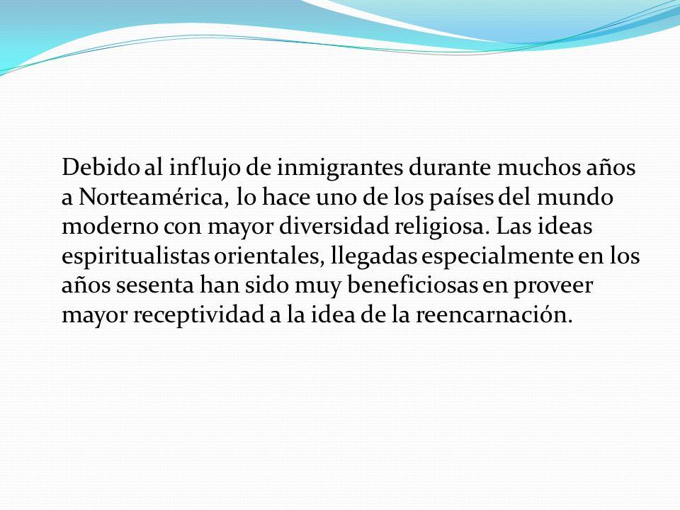 Debido al influjo de inmigrantes durante muchos años a Norteamérica, lo hace uno de los países del mundo moderno con mayor diversidad religiosa. Las i