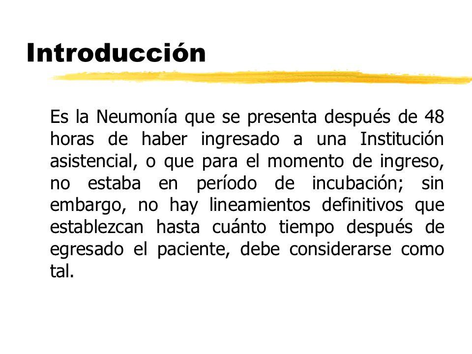 Neumonia Nosocomial zUna tinción de Gram bien interpretada es un procedimento orientador zEn adultos Bal:10(4) ufc,Cepillo bronquial p.10(3)ufc zEdades extremas de la vida empeoran el pronóstico Grupo infeccion noscomial Barquisimeto oct.2000