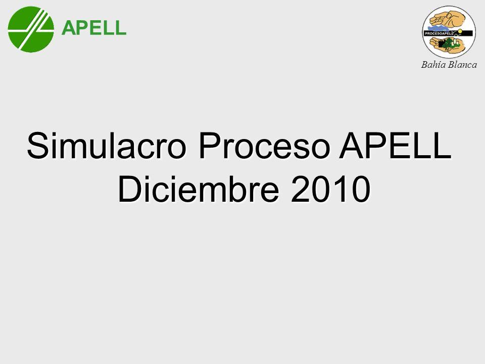 APELL Bahía Blanca Simulacro Proceso APELL Diciembre 2010