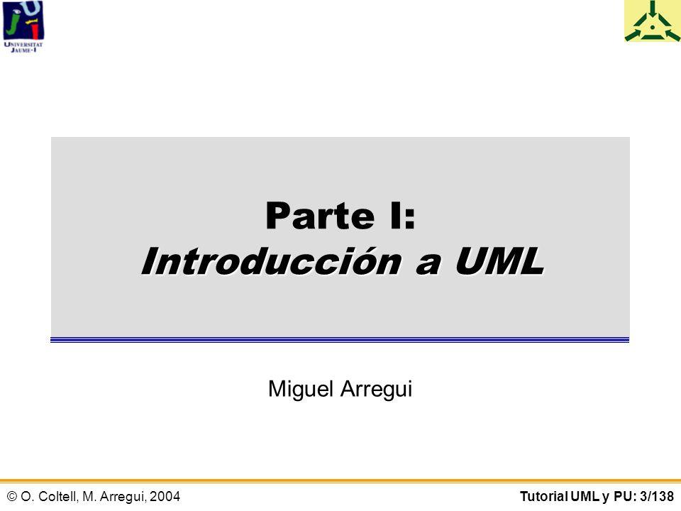 © O.Coltell, M. Arregui, 2004Tutorial UML y PU: 4/138 PARTE I.