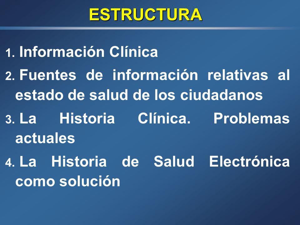LA INFORMACIÓN CLÍNICA Y DE SALUD Falagán Mota J. Nogueira Fariña J. Servicio de Documentación Clínica Complejo Hospitalario de Pontevedra V INFORME S