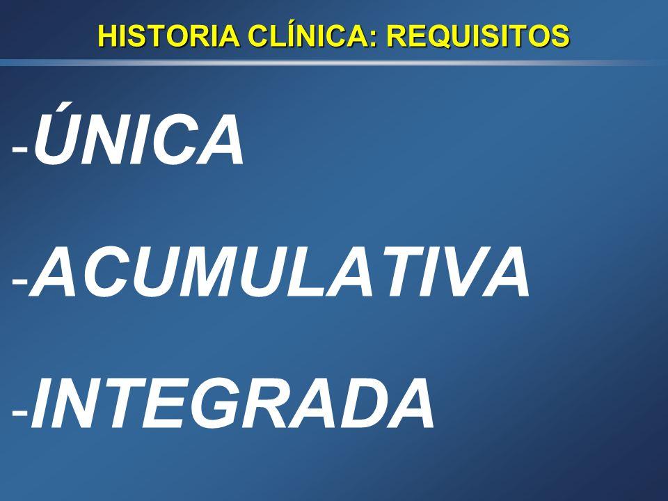 HISTORIA CLÍNICA: FUNCIONES 1.- ASISTENCIAL 2.- DOCENTE 3.- INVESTIGACIÓN CLÍNICA 4.- INVESTIG. EPIDEMIOLÓGICA 5.- GESTIÓN CLÍNICA Y PLANIFICACIÓN DE