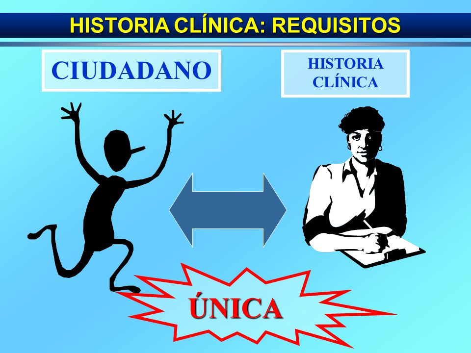 HISTORIA CLÍNICA: REQUISITOS - ÚNICA - ACUMULATIVA - INTEGRADA