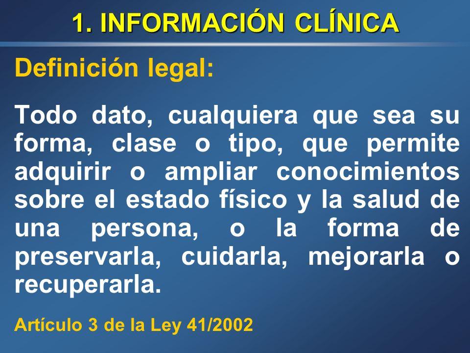 ESTRUCTURA 1. Información Clínica 2. Fuentes de información relativas al estado de salud de los ciudadanos 3. La Historia Clínica. Problemas actuales