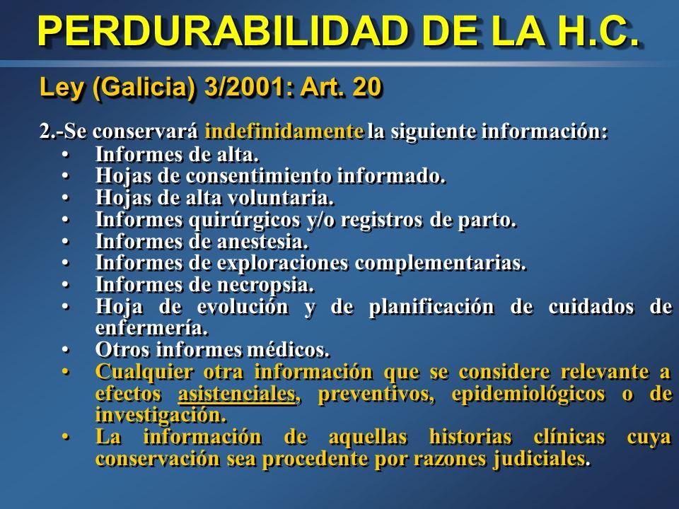 Ley (Cataluña) 21/2000: Art. 12 3. A pesar de lo establecido en los apartados 1 y 2 de este artículo, la documentación que a criterio del facultativo