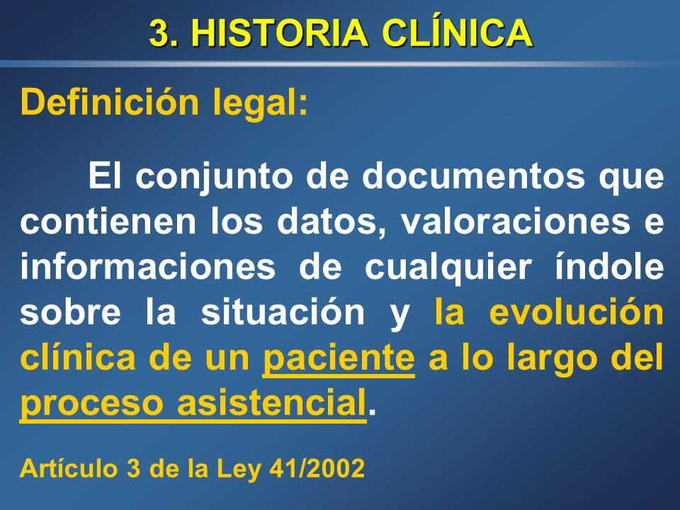 LEY 41/2002 Art.16: Usos de la Historia Clínica 3.