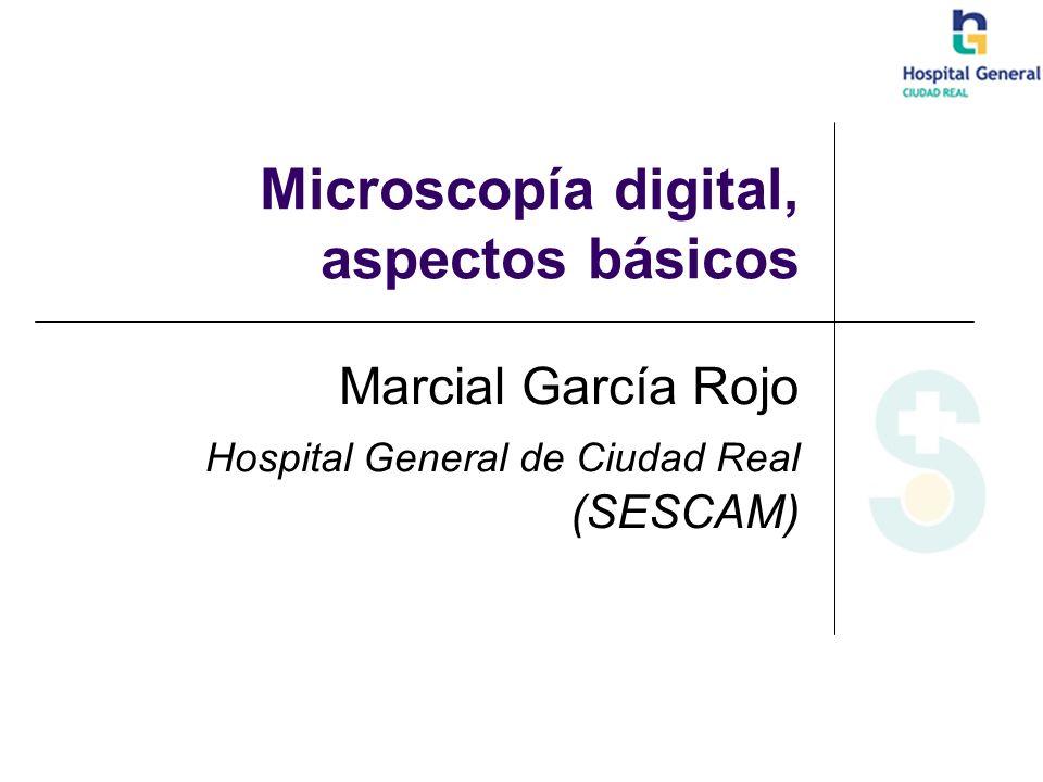 Microscopía digital, aspectos básicos Marcial García Rojo Hospital General de Ciudad Real (SESCAM)