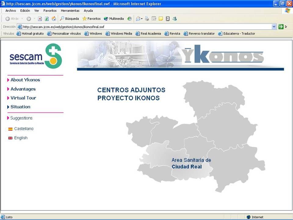 A project for Castilla-La Mancha Health Service Ykonos project