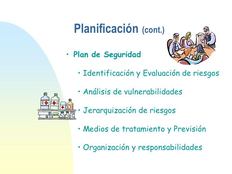 Plan de Seguridad Identificación y Evaluación de riesgos Análisis de vulnerabilidades Jerarquización de riesgos Medios de tratamiento y Previsión Orga
