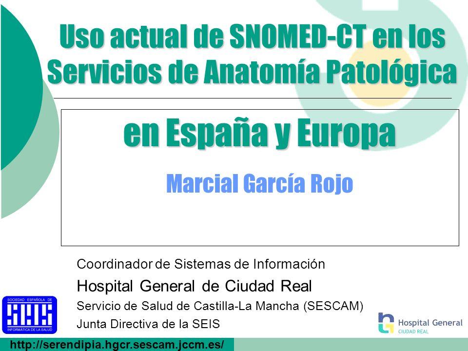 Servicio de Salud de Castilla-La Mancha 12 Evolución de SNOMED-CT SNOMED nació como un sistema de codificación, es decir, asignar un código (SNOP, 1965).