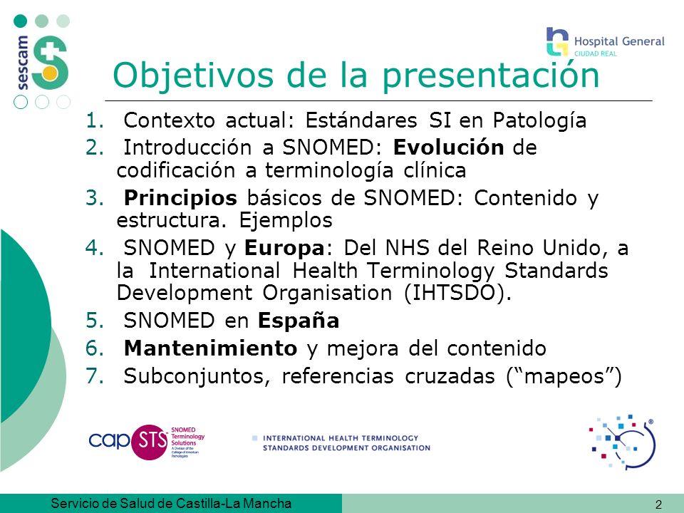 Servicio de Salud de Castilla-La Mancha 43 SNOMED en Europa