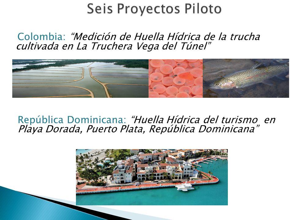 Argentina: Huella Hídrica de la actividad turística en Chacras de Coria, Mendoza 12 Chile: Huella de Agua Azul y Gris del Sector Minero de Chile