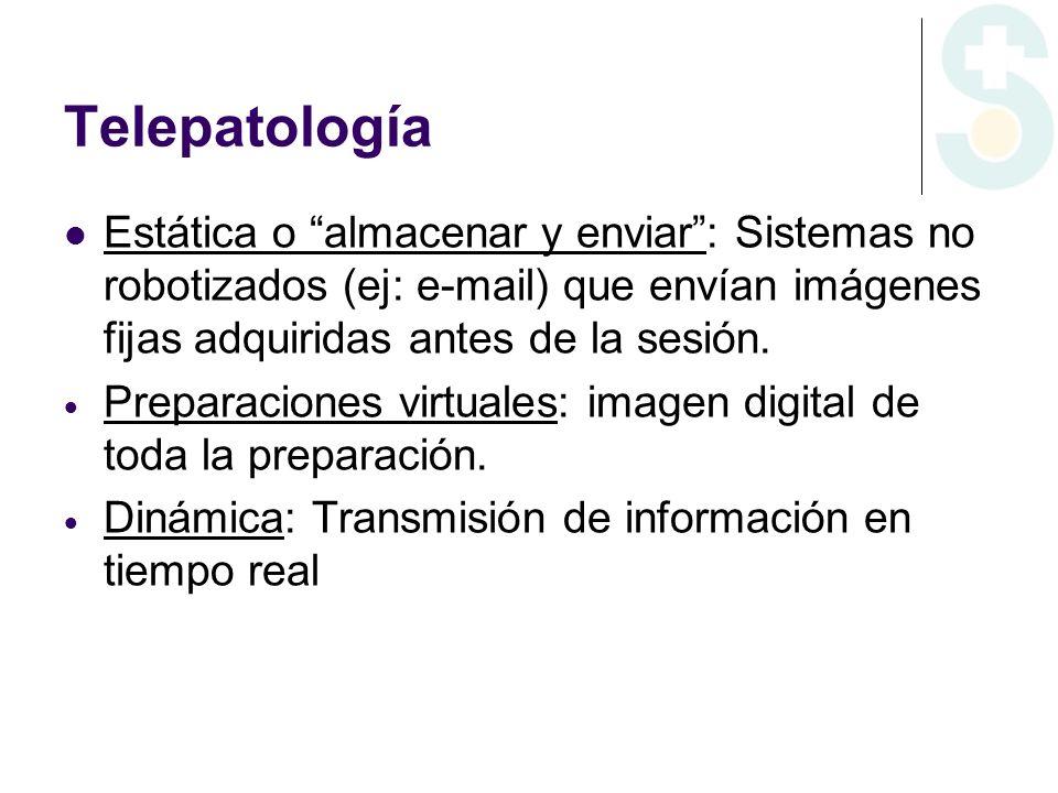 Telepatología Estática o almacenar y enviar.