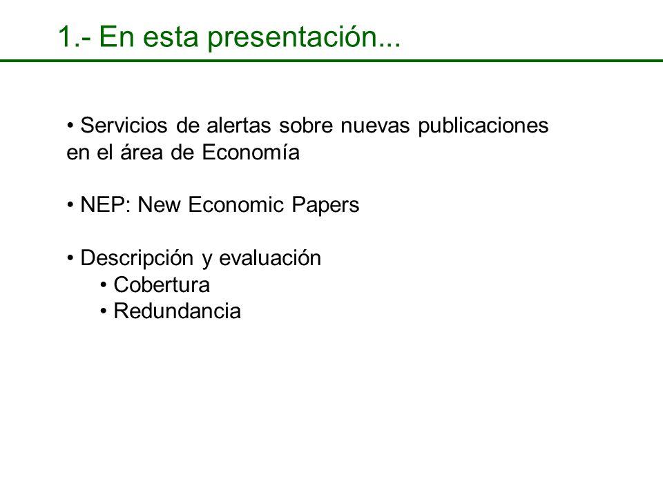 2.- RePEc Archive Guildford Protocol // Metadata (ReDIF) Documentos a 31 de Julio de 2003: Artículos: Working Papers: Documentos a 31 de Julio de 2003: Artículos: Working Papers: Service