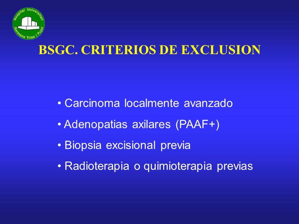 Previous Excisional Biopsy