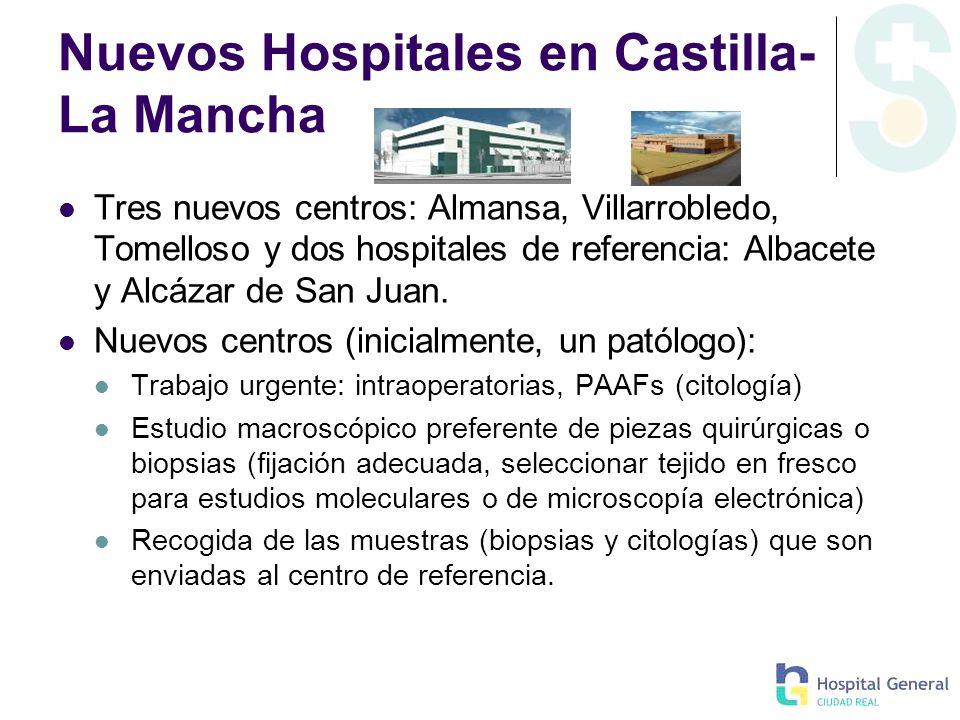 Nuevos Hospitales en Castilla- La Mancha Tres nuevos centros: Almansa, Villarrobledo, Tomelloso y dos hospitales de referencia: Albacete y Alcázar de
